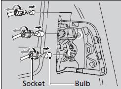 Honda Fit: Brake Light, Taillight, Back-Up Light and Rear