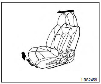 Nissan Micra: Three-point type seat belt with retractor