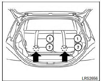 Nissan Micra: Forward-facing child restraint installation