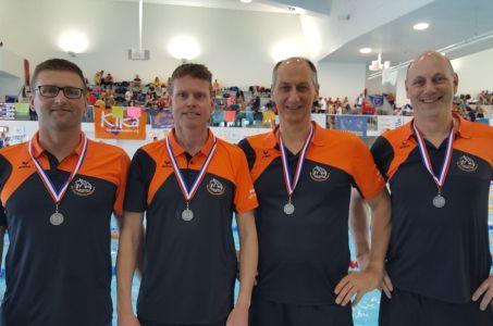 Zilver voor heren Biesboschzwemmers tijden ONMK2018