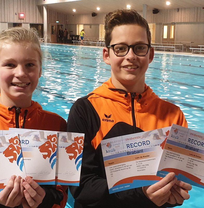Brabantse records voor talenten Biesboschzwemmers