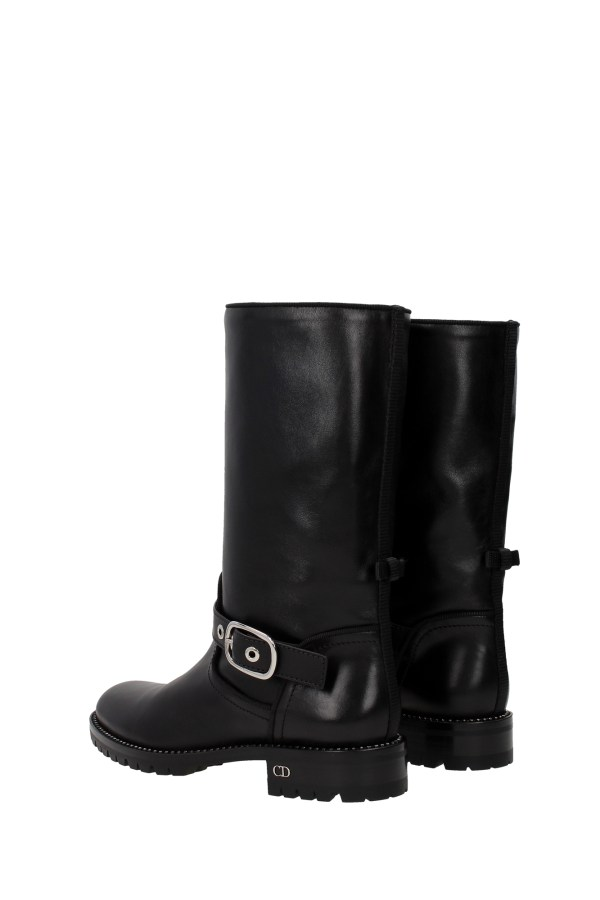 Boots Christian Dior Women Leather Black Kci371scfs900