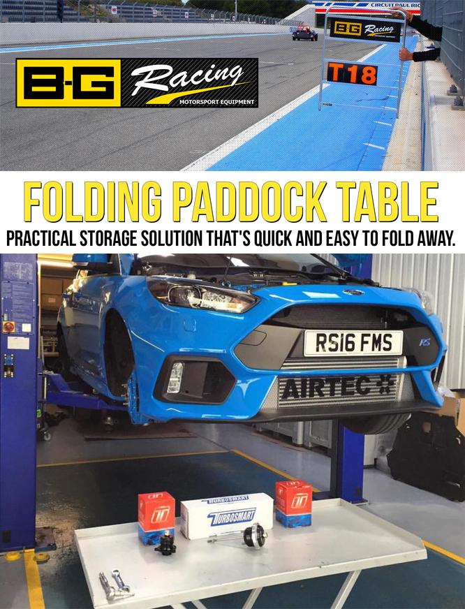 B G Racing Paddock Table