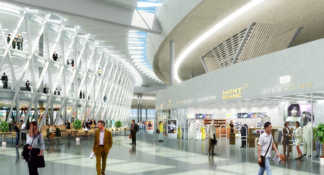 El dorado Bogota Airport Colombia interior design and