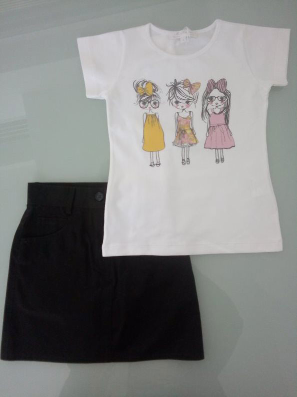 """Σετ T-shirt Mariella Ferrari και φούστα """"Made in Italy"""" 141508"""