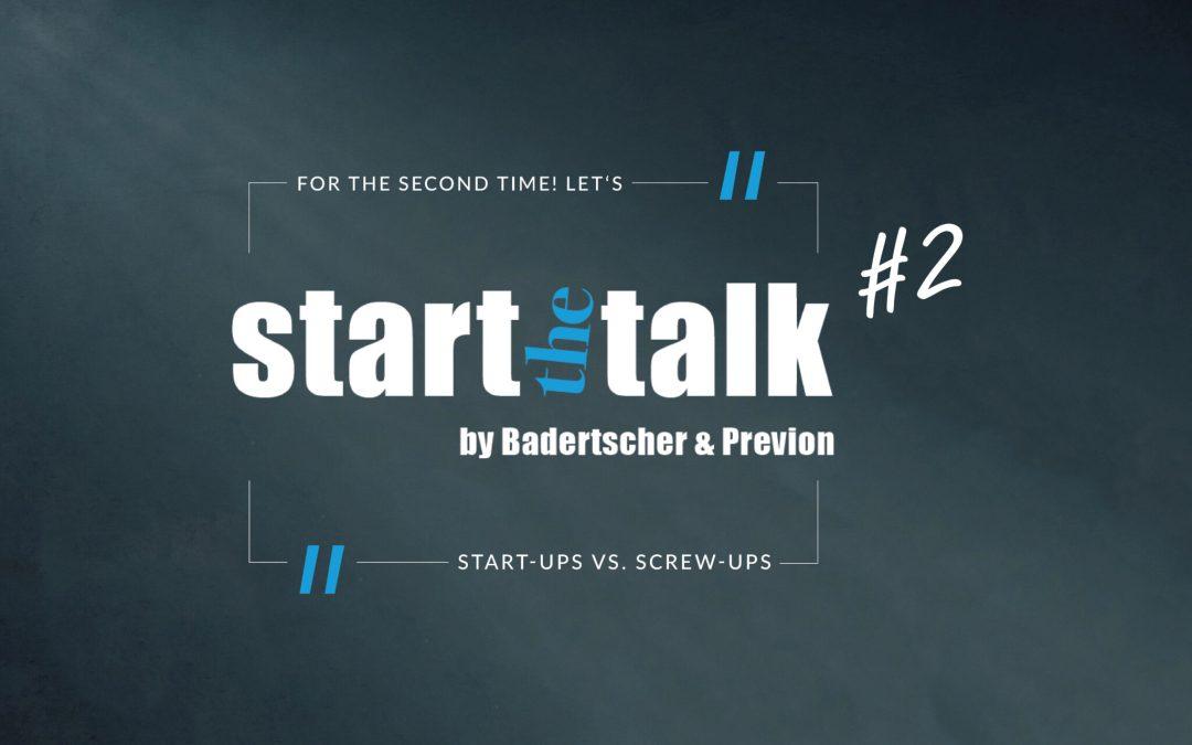 Zweite Ausgabe von »start the talk« neu angesetzt