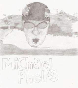 What do SEO copywriting best practices have to do with Michael Phelps? (Image is a black and white sketch of Michael Phelps.) Follow them for a month and watch your rankings start to rise.
