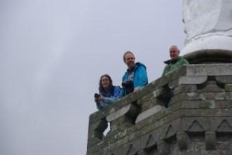 Op de Mont Dol samen met Rolf, Nicky en Dick