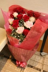 新郎様が新婦様へご用意したサプライズの花束