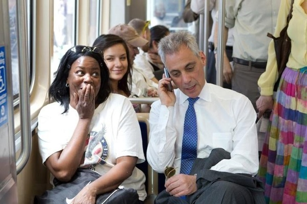 Rahm on the CTA