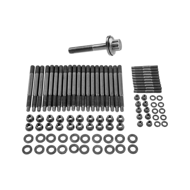 Head Stud Bolt Kit + Crank Crankshaft Bolt for GM Chevy