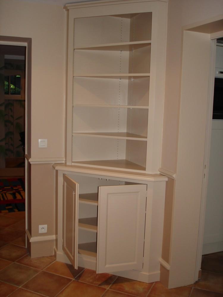 Cr ation de meubles tv et biblioth ques sur mesure b2a for Peindre meuble stratifie