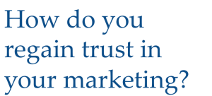 trust is needed for content marketing