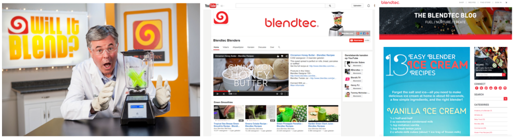 blendtec - e-commerce inspire & attract