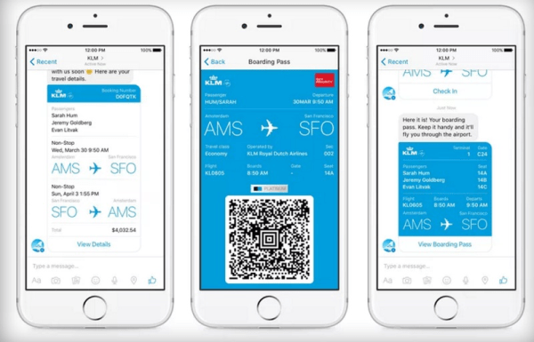 KLM using messenger_future of marketing