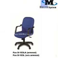 Office Chair Malaysia Geriatric Rental Fox D103la Full Fabric Equipment Supplies