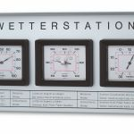 Outdoor analogue weather station