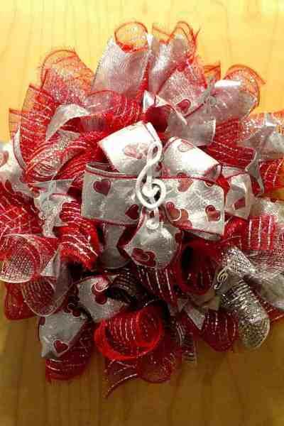 Valentine Music Wreath