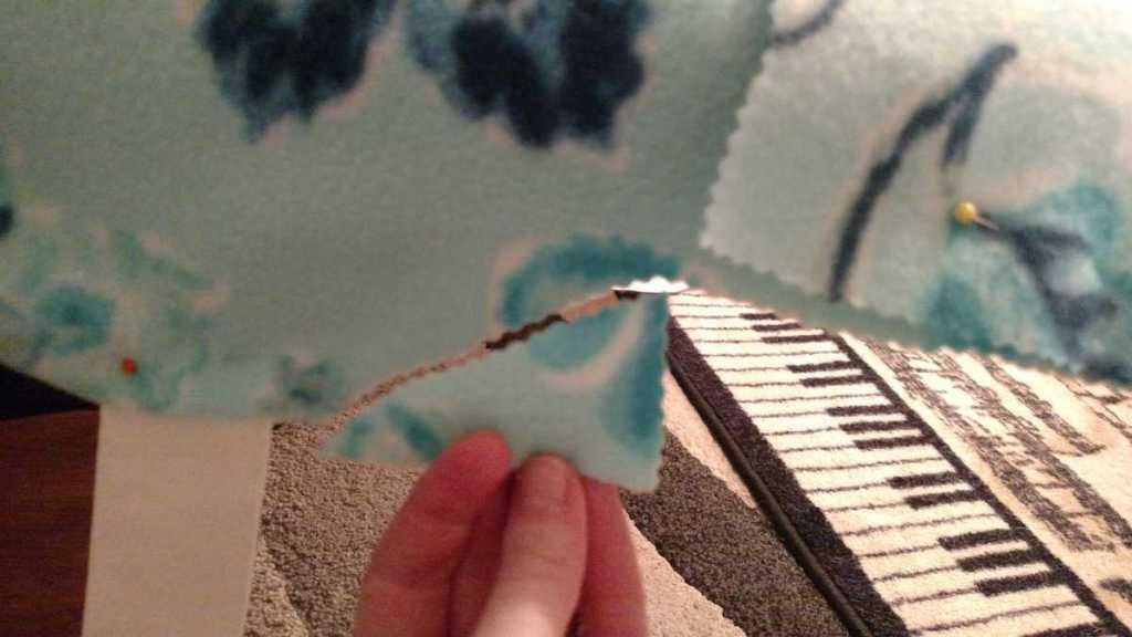 little piece of fabric cut off