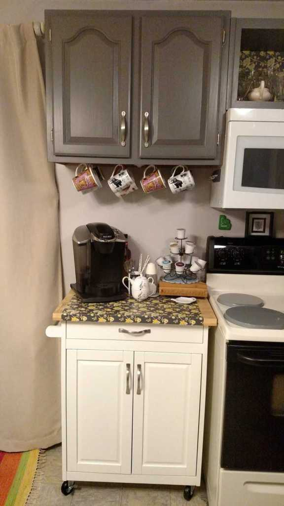 Kitchen Coffee Station - B4 and Afters