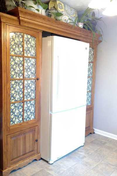 Kitchen Refrigerator Cabinet Surround