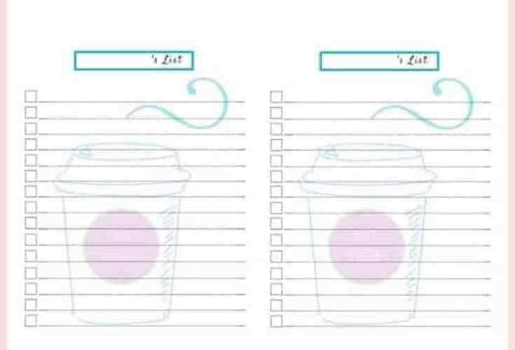 Seasonal Drink Printable Checklists