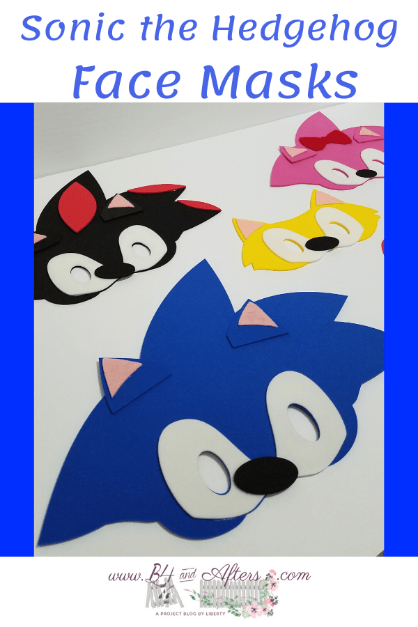 Face Masks For Sonic The Hedgehog Movie Characters B4 And Afters