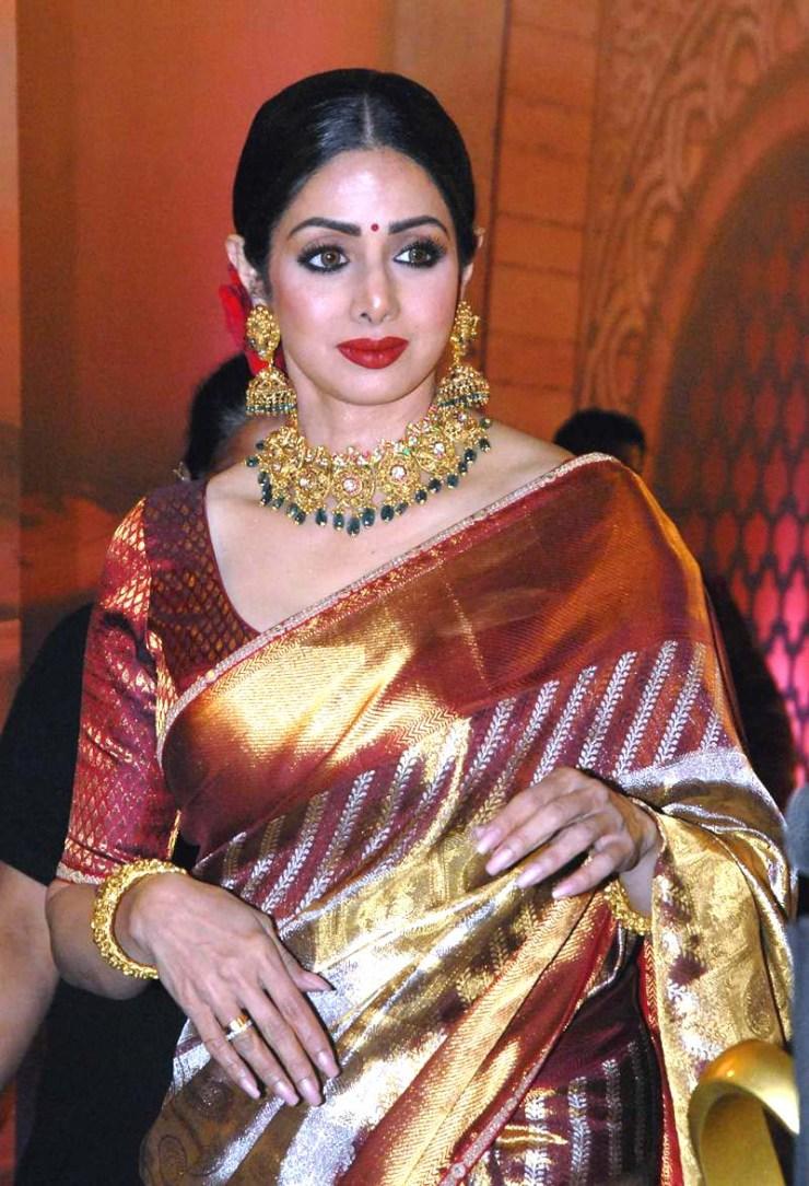 Sridevi in Sari