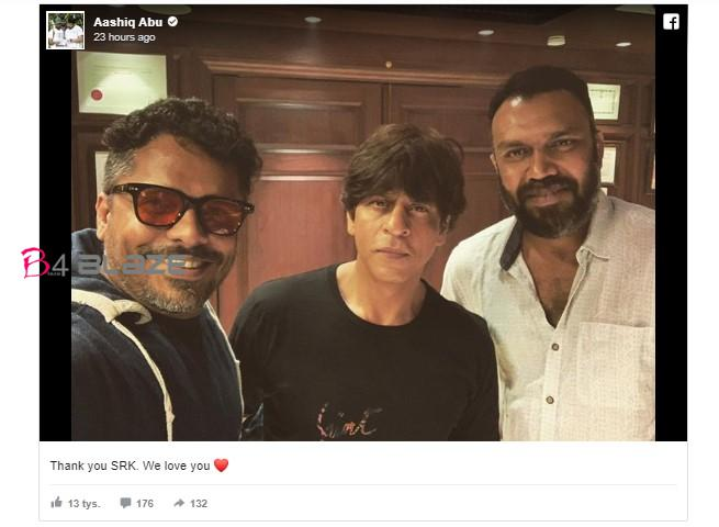 Shah Rukh Khan with Aashiq Abu
