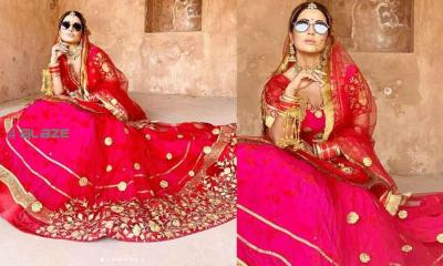 Hina Khan appeared in the bride's dress, posted her photo on social media