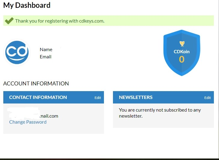 Cdkyes account dashboard