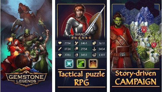 Gemstone Legends - tactical RPG adventure game