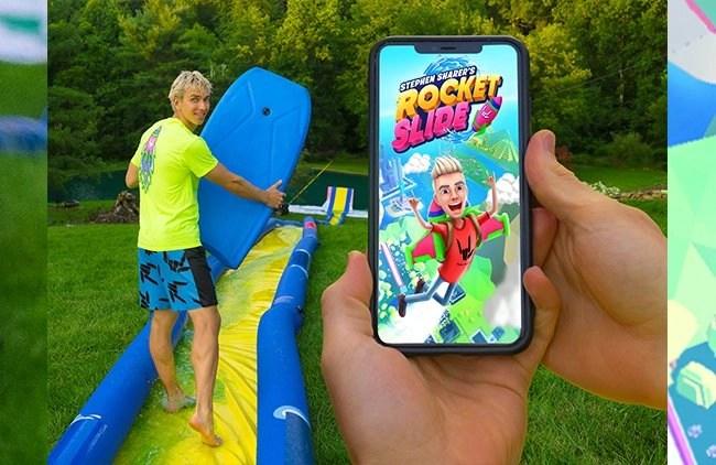 Stephen Sharer Rocket Slide app