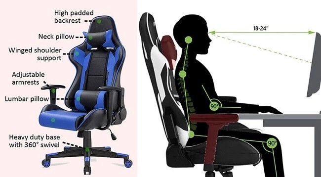 Are gaming chairs good for back pain? 2