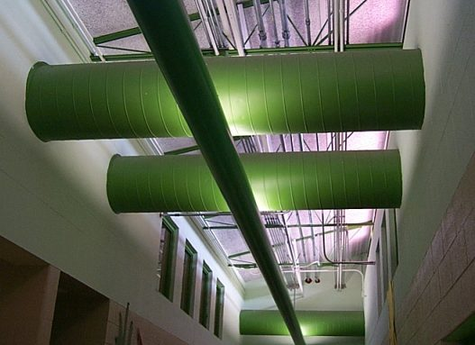 A Picture Of Exposed Spiral Ductwork B4ubuild Com