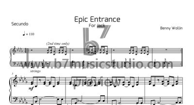 Epic Entrance - Sheet Music Preview (Secundo)