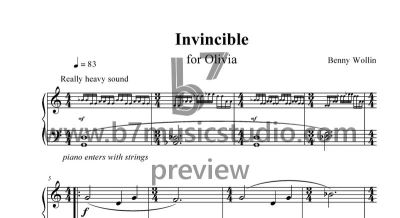 Invincible - Sheet Music Preview