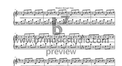Window Through Time - Sheet Music Preview