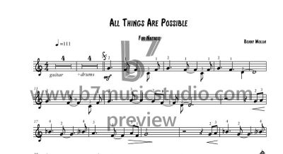 All Things Are Possible - Sheet Music Preview