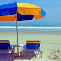 Chairs and Shade at a Beach