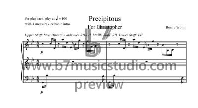 Precipitous - Sheet Music Preview