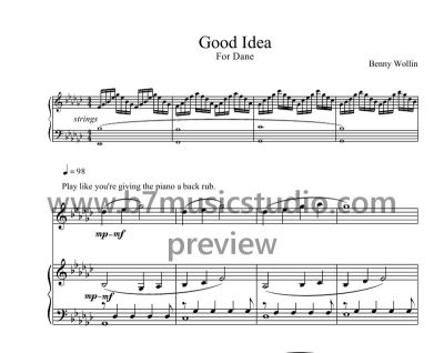 Good Idea - Full Score Sheet Music Preview