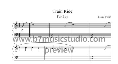 Train Ride - Sheet Music Preview