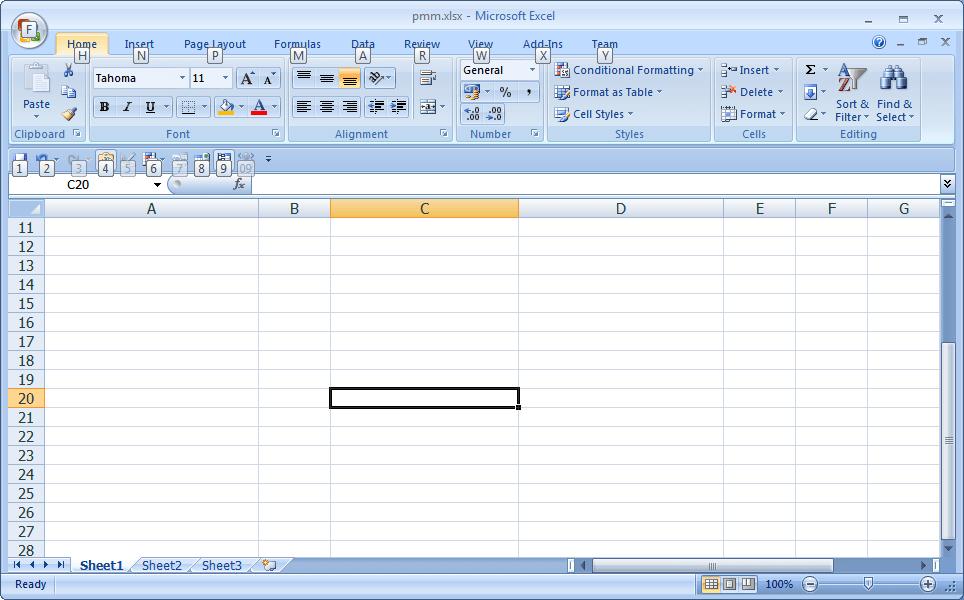 Excel กด Alt เพื่อเช็ค shortcut key