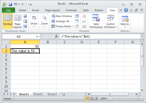 text in value excel-1