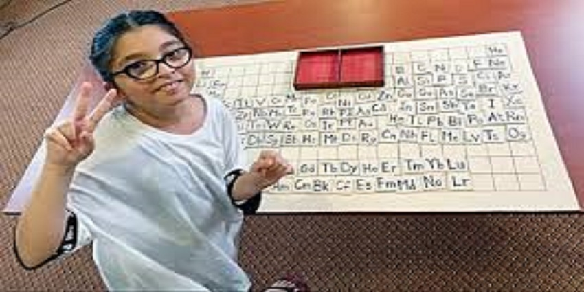 World record for a nine-year-old Pakistani girl in chemistry