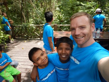 Chris, Mak and Darren at the zip lining