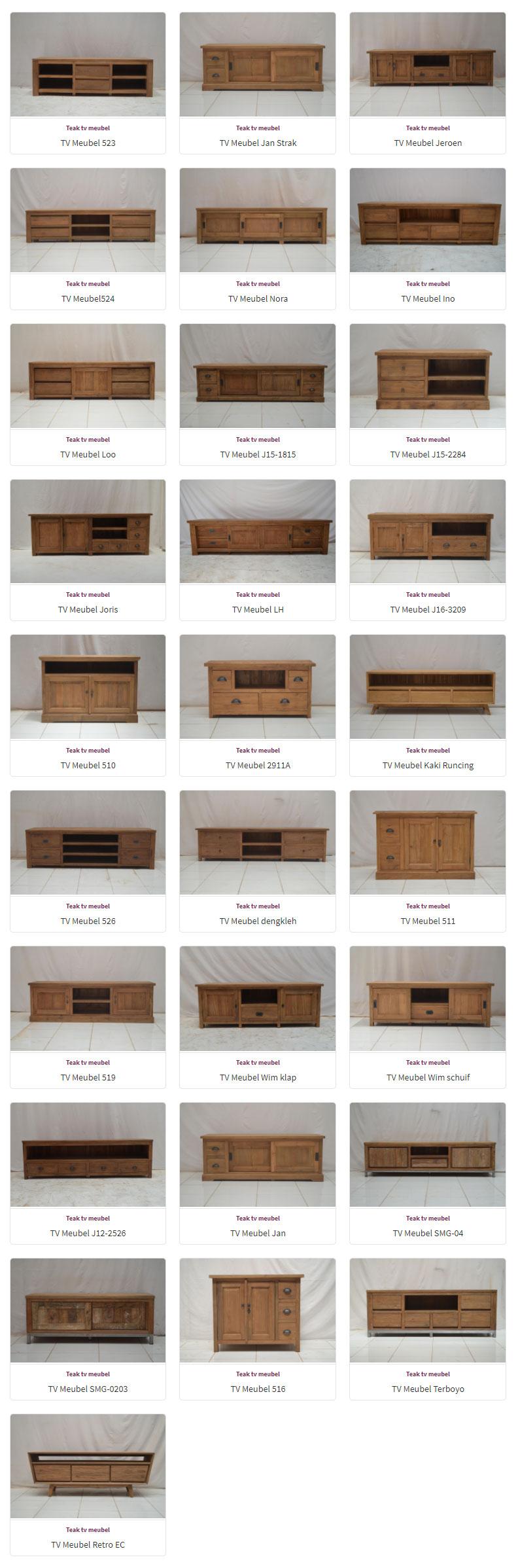 TV Kasten - Dressoirs - Teak meubelen - Baan Wonen