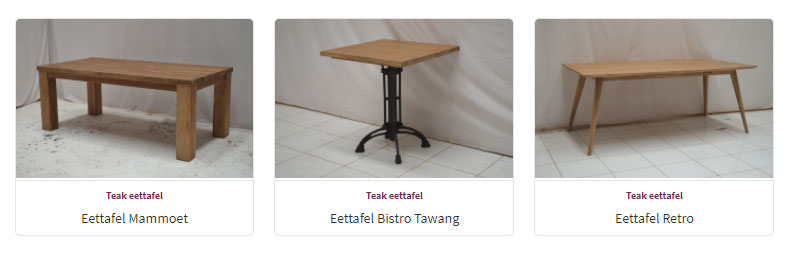 Eettafels - Teak Meubelen - Baan Wonen