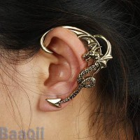 HOT Fly Dragon Cartilage Earrings Wrap Clip Left Ear Cuff